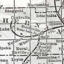 Old Map of Croom
