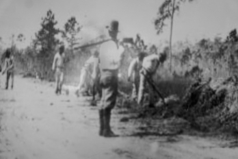 Florida Convicts Working on The Highway 1917