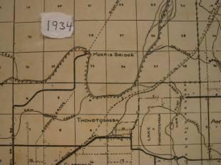 1934 Map of Gordon Grade