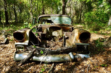 Old Vehicle at Homestead Site