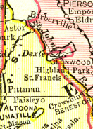 St. Francis Map 1800's